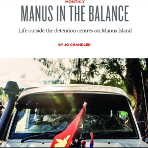 The Monthly: Manus in the balance