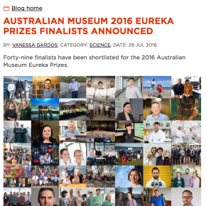 Australian Museum Eureka Prizes:Finalist
