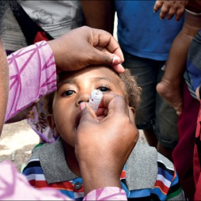 Fighting a polio outbreak in Papua New Guinea: Story for The Lancet