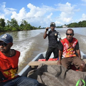 A brief trip up the Fly River to the West Papuan refugee villages